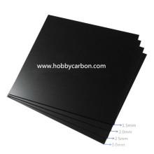 Placa de cristal de fibra de epoxy negra de la alta calidad G10 / hoja de la resistencia térmica para el abejón / PFV