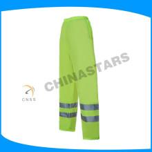 Unisex fluo amarillo cinta reflectante pantalones de seguridad para ropa de trabajo