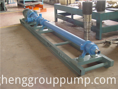 Single screw stripping pump