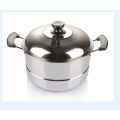 24cm Stainless Steel Steam Pot with Lids