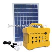 10w solar mini sistema de luzes com mp3 e FM