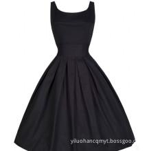 Summer Ladies Round Neck Retro Casual Dress