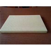Panneaux en fibre de bois en aluminium de couleur bois