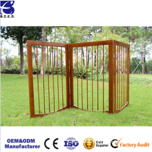 Wooden Pet Gate, Foldable & Freestanding, For Indoor Home & Office Use
