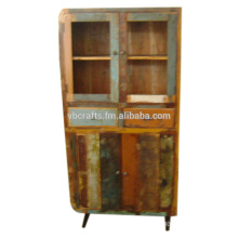 recycle wood vintage art deco cabinet