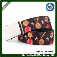 Colorful Cotton Webbing Belts For Women With Pattern