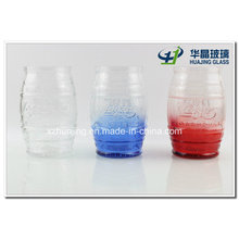 500ml Colored Barrel Shape Candy Glass Jar