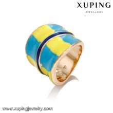 14376 Atacado de alta qualidade fina senhoras jóias pintura colorida superfície anel de dedo largo