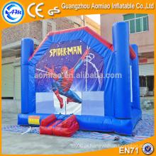 Spiderman inflável bounce casa, Novo projetado inflável ar castelo, indoor bouncers inflável para crianças