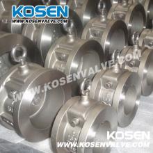 Válvula de retención de la oblea del oscilación del solo disco del acero inoxidable