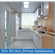 Armoire de cuisine en PVC blanc en forme de U