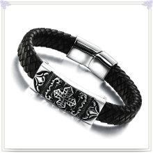 Joyería de moda cuero joyas pulsera de cuero (lb136)