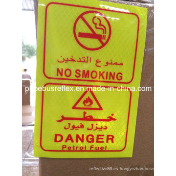 Etiqueta de advertencia reflexiva