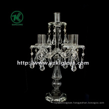 Glass Candle Holder for Home Decoration with Five Posts (9*23*35.5)