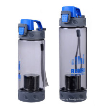 Customized New Product PE Water Bottle with Strainer for Souvenir