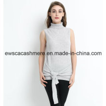 Unique Design Sleeveless Women Pure Cashmere Sweater
