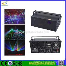 Luz do projetor do Natal Luz laser de flash de 3W RGB / luzes laser do disco de dj