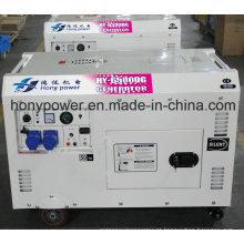 Gerador diesel de tipo silencioso 6kw refrigerado a ar (DG8500SE)