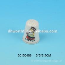 Dedales de cerámica baratos al por mayor, dedal decorativo del dedo