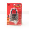 Plastic Cover Arc Shape Atom Padlock Red Lock