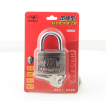 Plastic Cover Arc Shape Atom Padlock Red Lock
