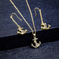 Set perhiasan berlapis emas Stainless Steel Anchor