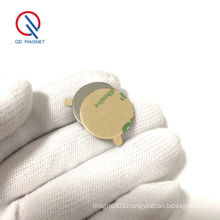 10x1mm magnet with 3M self adhesive small round magnet N35