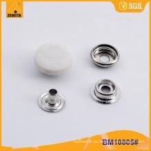 Botón redondo de presión de nylon personalizado BM10805