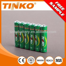 OEM R03 AAA heavy duty battery 4pcs/shrink 60pcs/box