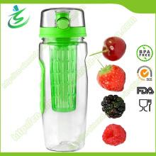 Botella de agua de alta calidad de la infusora de la fruta de 32 onzas, sin BPA