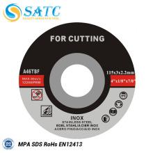 disco de corte para el mercado del sudeste asiático para cortar acero aleado