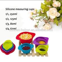 Экологичные цветные силиконовые мерные чашки