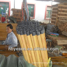 wood grain pvc cover wood broom stick 2.2*120cm