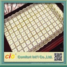 54 '' PVC en coton à la longue couverture en tissu de dentelle 20m par rouleau