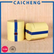 Подгонянный цилиндрический круглая коробка подарка бумаги картона цилиндра