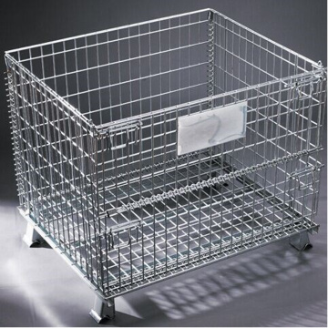 Dilipat Wire Mesh Pallet Cage
