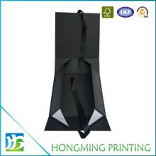Matte Black Paper Cardboard Folding Jewelry Box