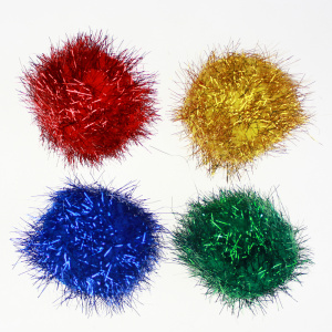 Jumbo glitter pompom for decoration