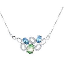 2016 joyería fina Collar de cristal claro de calidad superior del ahogador