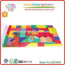 Juguetes educativos de los niños de los bloques de madera coloridos, juguetes educativos calientes de la niñez temprana