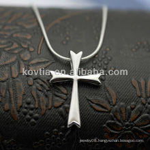 Popular cross shape 925 sterling silver pendants for men
