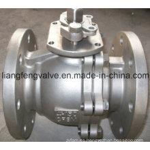 Válvula de bola de acero inoxidable de extremo de brida 150LB