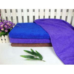 Schussgestricktes Embossing Blue Color Microfiber Towel