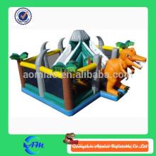 Inflável dinossauro parque de diversões inflável diversão cidade para crianças inflável dinossauro rebote casa