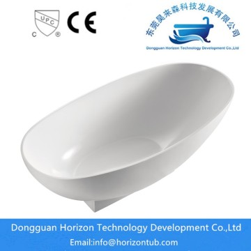Vit Högglans Finish Acrylic Oval Bathtub