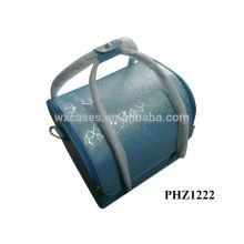 bolso cosmético de la piel con 4 bandejas extraíbles dentro y con opciones de color diferentes