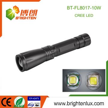 Fabrik Bulk Sale 3 Modi Licht Metall Material Lange Strahl Bereich Zoom Focus xml2 10watt Power Style Cree LED Taschenlampe