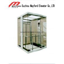 Elevador panorâmico de vidro confortável com sala de máquinas