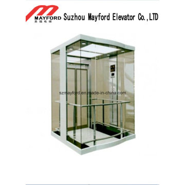 Comfortable Glass Panoramic Elevator with Machine Room