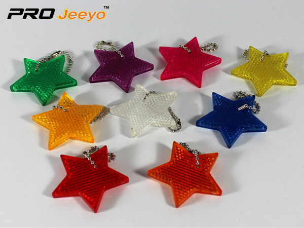 Reflective Safety Star Cartoon Keychain RV-503 2